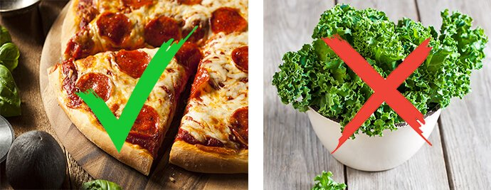 Pizza YES!, Kale NO