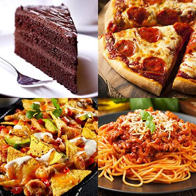Collage of carb foods
